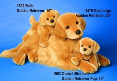 Orabel Golden Retriever Puppy - 13'' Dog By Douglas Cuddle Toys