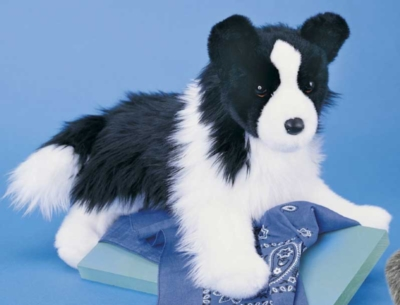 Chase Border Collie - 16'' Dog by Douglas Cuddle Toys