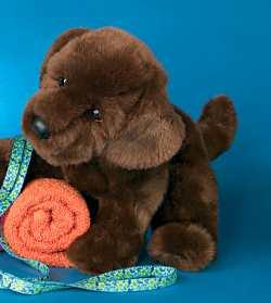 O'Keefe Chocolate Lab - 13'' Dog by Douglas Cuddle Toys
