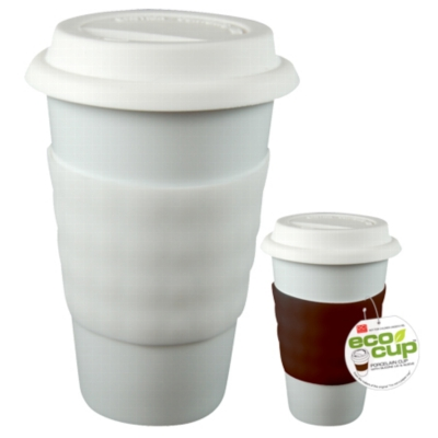 Eco Cup - Porcelain Cup w/ Silicone Lid