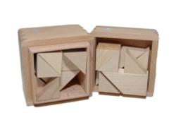 Wood Puzzles - Half Cubes