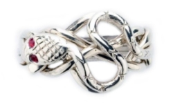 Puzzle Rings - Ruby Snake