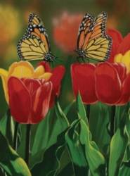 Monarchs and Tulips - 1000pc Jigsaw Puzzle by Bits & Pieces