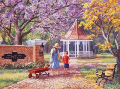 Wagon in the Park - 1000pc Jigsaw Puzzle by Bits & Pieces