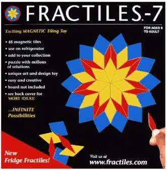 Games - Fridge Fractiles, 48 Magnetic Tiles