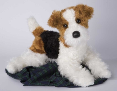 Hunter Fox Terrier - 16'' Dog By Douglas Cuddle Toys