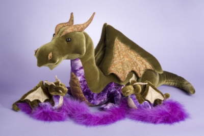 Olive - 32'' Dragon By Douglas Cuddle Toys