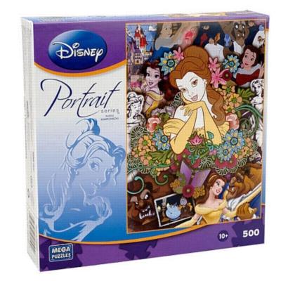 Disney Portrait: Belle - 500pc Jigsaw Puzzle by MEGA