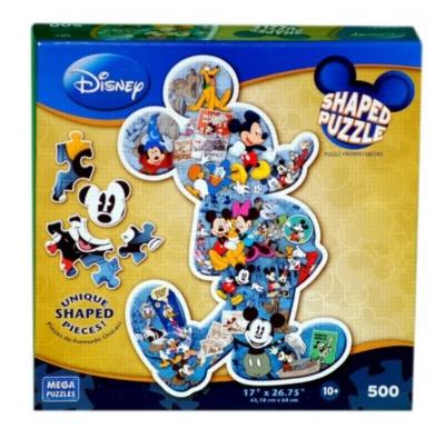 Disney Shaped: Mickey Mouse - 500pc Shaped Jigsaw Puzzle by MEGA