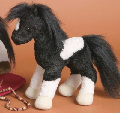 Hobo Black and White - 9'' Horse By Douglas Cuddle Toys