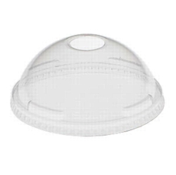 Dart - Dome Lid w\ Hole, Clear, 24LCDH, 1000/cs