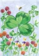 Clover & Bee - Garden Flag by Toland