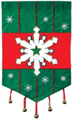 Snowflake - Garden Applique Flag by Toland