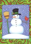 Top Hat Snowman - Garden Flag by Toland