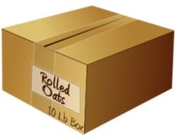 Bulk Rolled Oats: 10lb Case