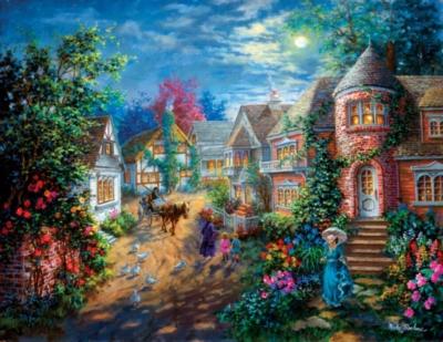 Moonlight Splendor - 1000pc Large Format Jigsaw Puzzle By Sunsout