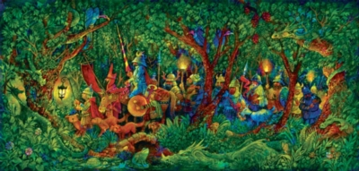 The Dragon Hunters - 1000pc Panoramic Jigsaw Puzzle By Sunsout