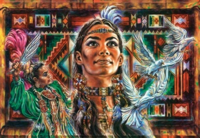 Native Tapestry - 500pc Jigsaw Puzzle By Sunsout