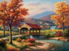 Covered Bridge in Fall - 500pc Jigsaw Puzzle By Sunsout