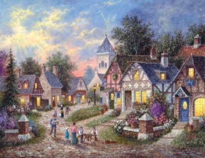 Twilight Village - 1000pc Large Format Jigsaw Puzzle By Sunsout