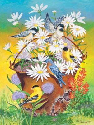 Jigsaw Puzzles - Bucket of Birds