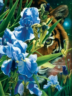 Fantasy Tiger - 500pc Jigsaw Puzzle By Sunsout