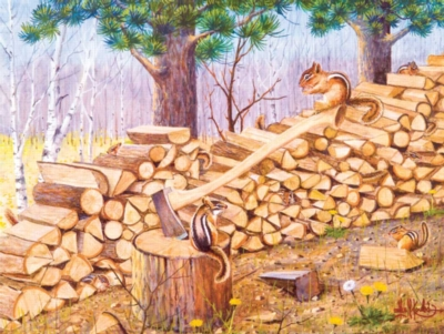 The Chipmunk Hotel - 500pc Jigsaw Puzzle By Sunsout