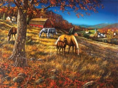 Hillside Gathering - 1000pc Jigsaw Puzzle By Sunsout